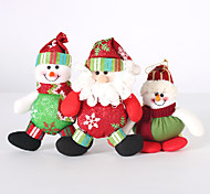 3pc plegable de la venta caliente decoración de Navidad Santa Claus muñeco de nieve figuritas de navidad