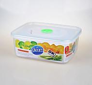 venta al por mayor recipiente de plástico transparente con tapa 2.9L