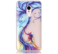 For Glow in the Dark / Translucent Case Back Cover Case Young Couple Tree Soft TPU Xiaomi Redmi Note 4 Redmi Pro