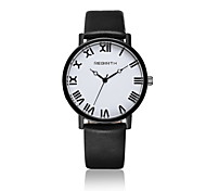 Women's Fashion Watch / Wrist watch Quartz / Leather Band Casual Black / White Brand