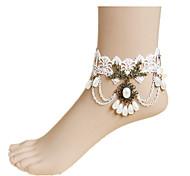женщин белое кружево ножной ювелирные изделия 1шт