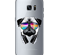 Sunglasses Dog Soft Material For Compatibility TPU For Samsung Galaxy S6 Edge Plus S6 S7 Edge S7