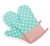 2 Piece Pot Holder & Oven Mitt For Cooking Utensils / Bread / Cake / Cookie / Pizza Fabric Heat-insulated