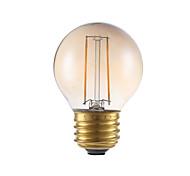 2W E26/E27 Lâmpadas de Filamento de LED G16.5 2 COB 160 lm Âmbar Regulável V 1 pç