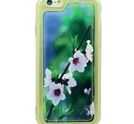 Para Antigolpes Funda Cubierta Trasera Funda Flor Suave Cuero Sintético Apple iPhone 6s/6