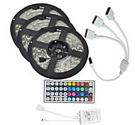 15M(3*5M) 5050 RGB 450 LEDs Flexible Strip Lights waterproof DC 12V 450LEDs with 44Key IR Remote Controller Kit