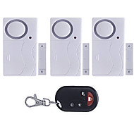 1 to 3 Remote Control Door Security Alarm   Smart Magnetic Sensor Window Anti-theft Alertor For Home Office Warehouse
