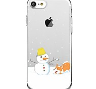 iPhone 7 7Plus Cartoon Christmas Pattern TPU Ultra-thin Translucent Soft Back Cover for iPhone 6s 6 Plus 5s 5 5E