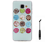 For Samsung Galaxy A5(2016) A3(2016) Case Cover Hamburg Pattern Super Soft Painting TPU Material Phone CaseTouch Screen Pen