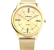Men's Military Watch Quartz Stainless Steel Band Gold Brand