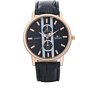 Men's Unisex Dress Watch Fashion Watch Wrist watch Water Resistant / Water Proof Quartz Leather Band Black