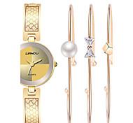 Luxury Watch Women Fashion Titanium Steel Charm Bracelet Watch Set Ak Style Woman'S Jewelry Relogio Feminino Montres Femme Gift Idea--3pcs/set