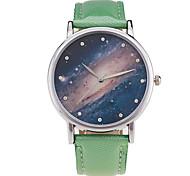 Hombre Mujer Pareja Unisex Reloj Deportivo Reloj de Vestir Reloj de Moda Reloj de Pulsera Cuarzo Punk Colorido Esfera Grande PU Banda