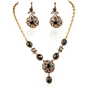 Fashion Jewelry Gold Plated Flowers Shape Earrings Pendant Wedding Accessories African Beads Jewelry Sets