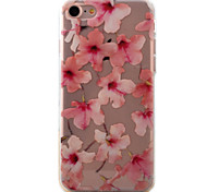 For iPhone 7 7 Plus 6s 6 Plus Case Cover Pink Flowers Pattern Painted High Permeability TPU Material Phone Shell