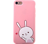 For iPhone 7 7 Plus 6s 6 Plus Case Cover White Rabbit love Pattern Fruit Color Painting TPU Material Phone Case