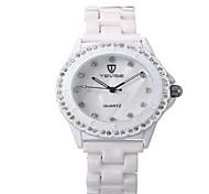 Women's Couple's Fashion Watch Mechanical Watch Quartz Water Resistant / Water Proof Luminous Imitation Diamond Stainless Steel Band