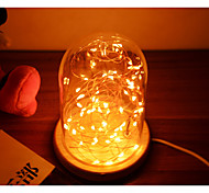 Romantic Wahoo Silver Lanterns Glass Light Star LED Desk Lamp Christmas DecorationNight Light