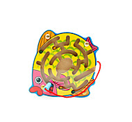 Maze & Sequential Puzzles Toys Fish Wood Yellow