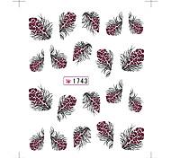 3 Sheet Nail Art Sticker  Feather  Water Transfer Decals Makeup Cosmetic Nail Art Design