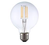 3.5 E26 Lampadine LED a incandescenza G80 4 COB 350 lm Bianco caldo Intensità regolabile AC 110-130 V 1 pezzo