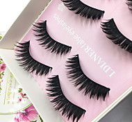 Eyelashes lash Full Strip Lashes Eyes Thick Volumized Handmade Fiber Black Band 0.10mm 12mm