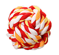 Dog Pet Toys Ball Rope Red / Green / Orange Cotton
