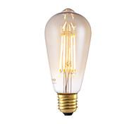 6W E26/E27 Bombillas de Filamento LED ST64 4 COB 550 lm Ámbar Regulable / Decorativa AC 100-240 V 1 pieza