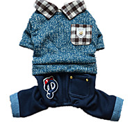 Dog Outfits Dog Clothes Casual/Daily Plaid/Check Blue