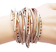 leather Charm BraceletsAlloy  Multilayer Handmade Leather Bracelet Jewelry Christmas Gifts