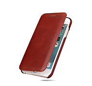 Fierre Shann Genuine Leather  Flip Case  for Iphone 6S 6Plus 7G 7Plus  Premium oil wax Pattern Gift Box