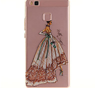 For Huawei P9 Lite P8 Lite Y6 II Enjoy 5 Honor 8 TPU Material IMD Process Hand-Painted Dress Pattern Phone Case
