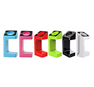 suporte portátil para relógio maçã sólida carregador relógio cor maçã ficar com caixa de varejo 6 cores