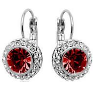 Hoop Earrings Crystal Rhinestone Alloy Fashion Jewelry Daily 1pc