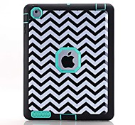 Waves Pattern Colour Printing Water/Dirt/Shock Proof Waterproof Three in One IMD Cover Case for iPad2 iPad3 iPad4