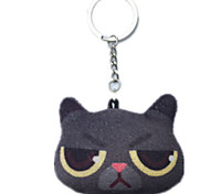 Key Chain Cat Key Chain Black Cotton