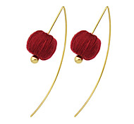 Imitation Gemstone Long Earrings