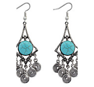 Drop Earrings Resin Alloy Fashion Blue Jewelry Daily 1 pair