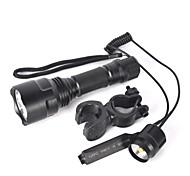 Светодиодные фонари Велосипедные фары LED 5000 Люмен 1 Режим Cree XM-L T6 Да Нескользящий захват Маленький размер Очень легкие