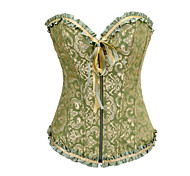 Green and Golden Floral Satin Aristocrat Lolita Korsett