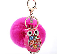 Key Chain Sphere Key Chain Peach Metal / Plush