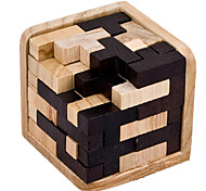 Assembly & Disentanglement Puzzles / Kong Ming Lock / Toys Novelty Toy Square Wood Black / Khaki For Boys / For Girls5 to 7 Years / 8 to