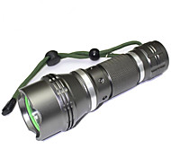 Iluminação Lanternas LED LED 1200 Lumens 5 Modo LED 18650.0 Foco Ajustável Prova-de-Água Tamanho Compacto Super LeveCampismo / Escursão /