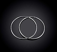 Fashion Lady Smooth Round Ears Silver Round Ear Ring