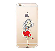 IPhone 7 7Plus Transparent Pattern Case Back Cover Case Pretty Girl Soft TPU for iPhone 6s 6 Plus iPhone 6s 6 iPhone 5s 5 5E 5C