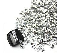 300PCS 3D Silver Square Alloy Nail Art Golden&Silver Decorations