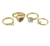 Fashion Gold Color Band Rings Set