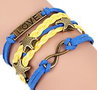 Bracelet Bangles Alloy Heart Love Heart Handmade Birthday Daily Valentine Jewelry Gift Yellow Blue,1pc
