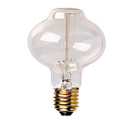 E27 AC220-240V 40W Silk Carbon Filament Incandescent Light Bulbs L80 Around Pearl