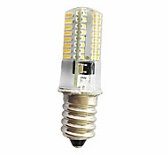 5W E14 E12 E11 Декоративное освещение T 64 SMD 3014 380 lm Тёплый белый Холодный белый Регулируемая AC220 V 1 шт.